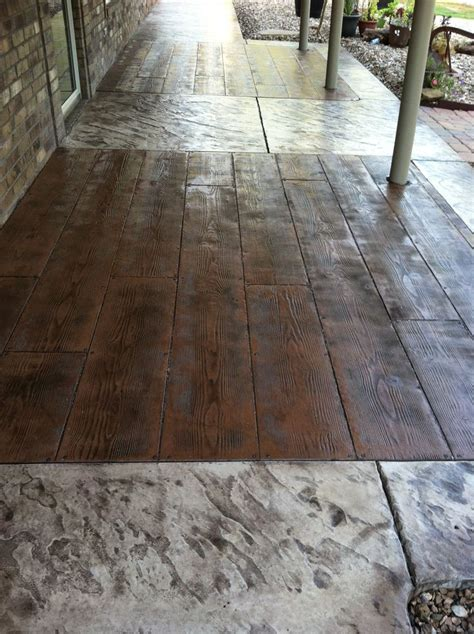 stonewood plank stamped concrete porch ideas