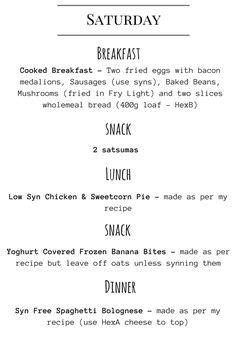 Slimming World Food Diary Printable   Printables