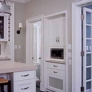 Built In Espresso Machine - Transitional - kitchen