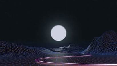 Vaporwave Synthwave Wallpapers Moon Wave 4k Computer