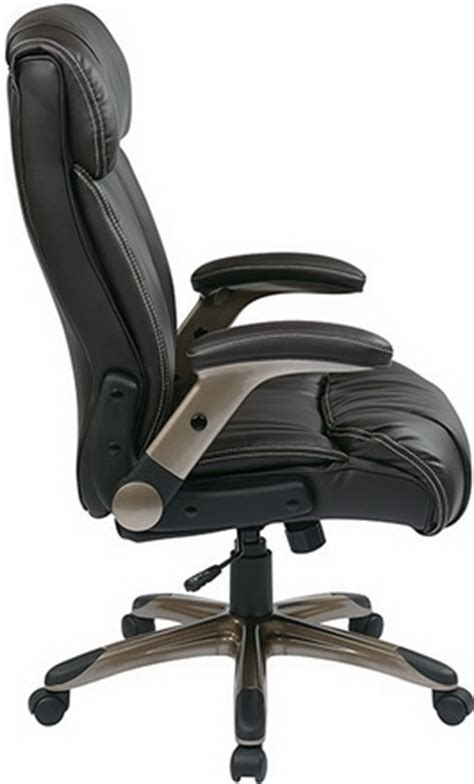 office flip arm executive chair in black or espresso