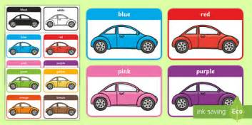 Colours On Cars Flashcards