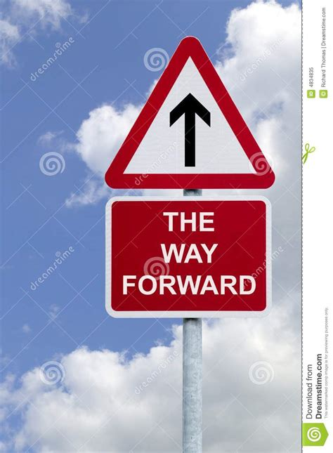 The Way Forward Sign In The Sky Stock Image - Image of ...