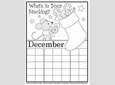 Coloring Calendar December version 2 Education World