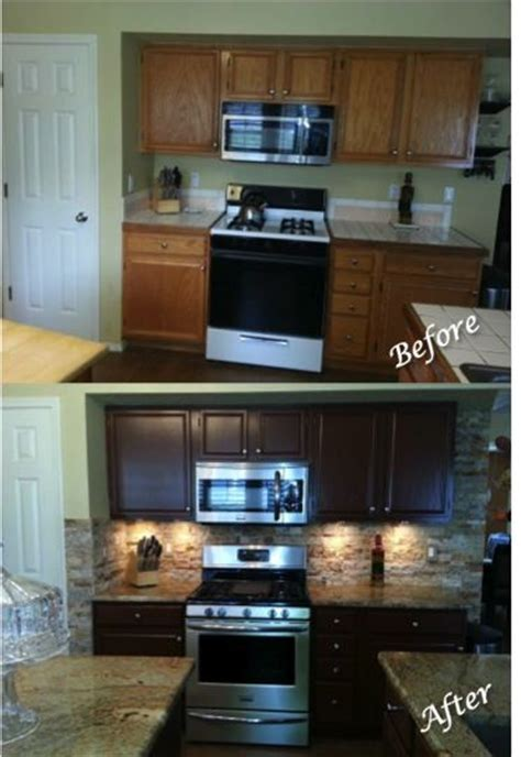 kitchen updating painted sherwin williams fiery brown