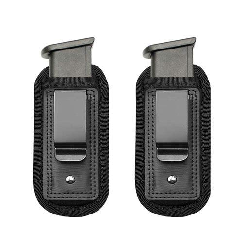 magazine holster holders single double stack  mm glock pistol duty belt