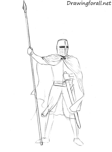 draw  knight drawingforallnet