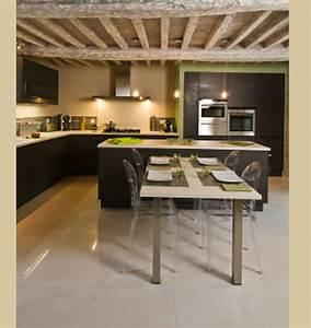 cuisine americaine table With cuisine avec ilot table