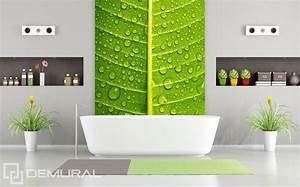 Papier Peint Pour Salle De Bain : approche verte et intime papier peint pour la salle de ~ Dailycaller-alerts.com Idées de Décoration