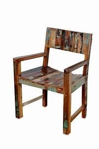 Shabby Chic Stühle : shabby chic stuhl mit armlehnen aus recycling holz industrial chic produkte moebelhaus ~ Orissabook.com Haus und Dekorationen