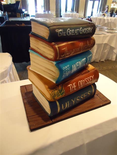 tier luxury cakes  stacked book cake   surprise