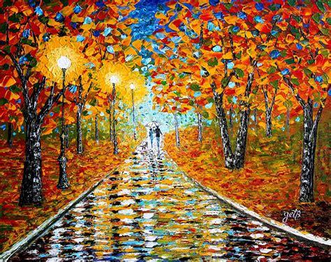 autumn beauty original palette knife painting painting