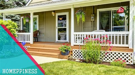simple front porch design ideas homeppiness youtube