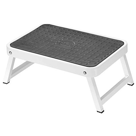 29604 step stool for bed halo folding step stool in white bed bath beyond