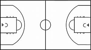 Blank Basketball Court Diagram Full Court