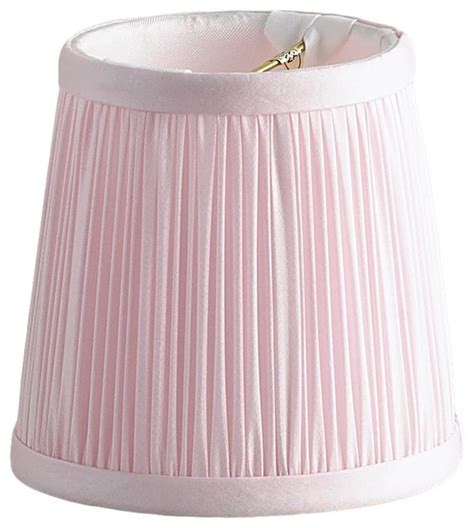 4 quot pink shirred silk chandelier shade lighting globes