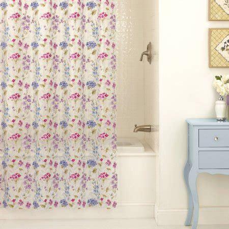 peva shower curtain excell les fleur peva shower curtain multi walmart