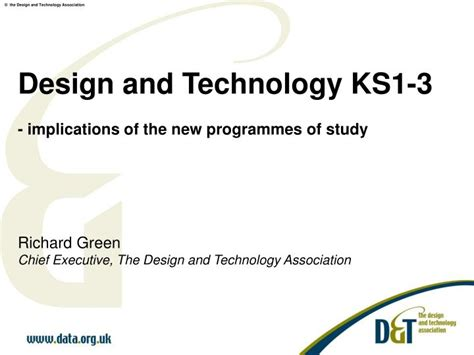 Ppt  Design And Technology Ks13  Implications Of The New Programmes Of Study Richard Green