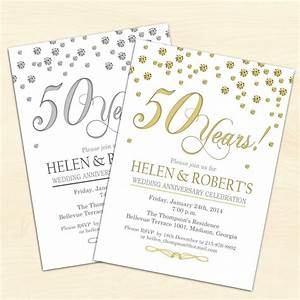 50th wedding anniversary invitations wedding invitation With free printable golden wedding invitations