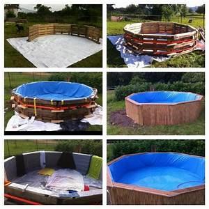 Pool Selber Bauen Paletten : immense piscine construite avec des palettes tape par tapemeuble en palette meuble en palette ~ Yasmunasinghe.com Haus und Dekorationen