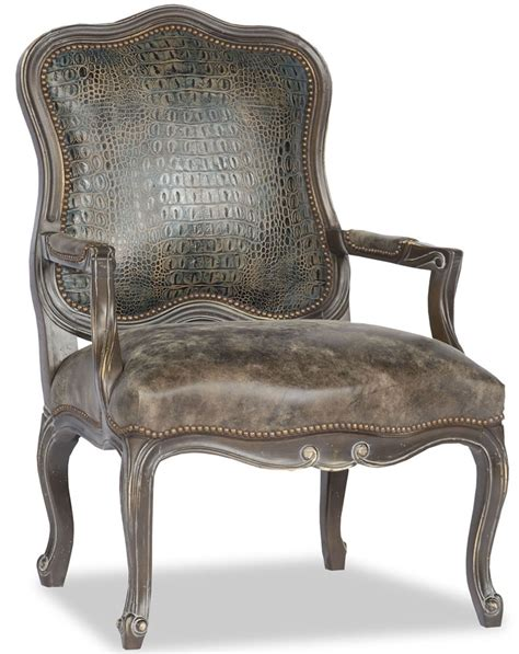 leather curved back accent chair