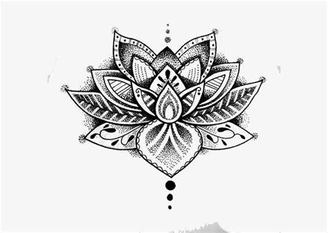tatuagem tatuagem pintados  mao flor de lotus png