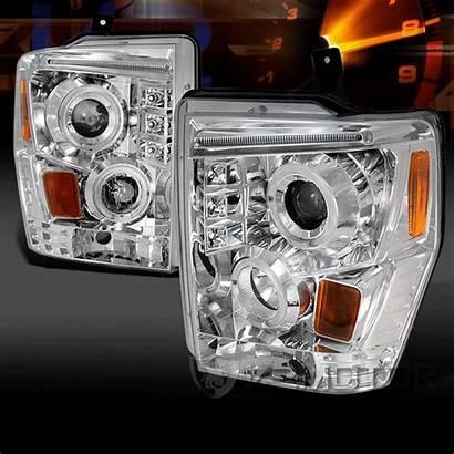 Headlights Halo Projector Led Chrome F250 F450
