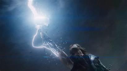 Thor Lightning Mjolnir Avengers Ragnarok Marvel Hemsworth