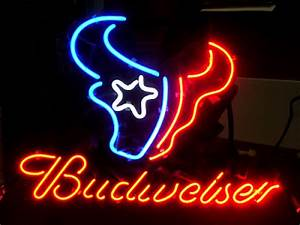 Wiki Neon Sign Blog BUDWEISER NFL HOUSTON TEXANS BEER