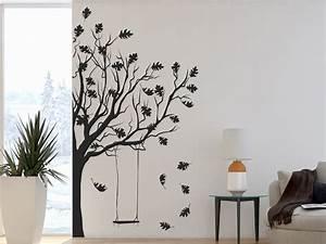 Baum An Wand Malen : wandtattoo baum im herbst von ~ Frokenaadalensverden.com Haus und Dekorationen