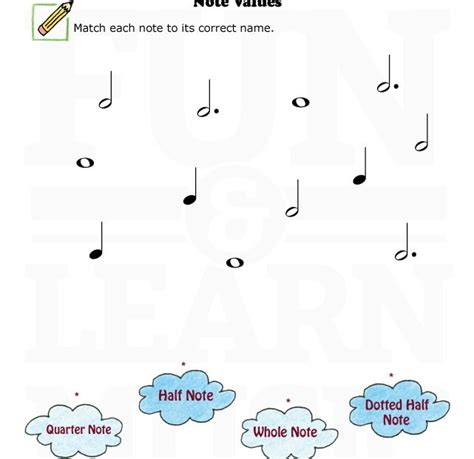 and learn 187 worksheets note value