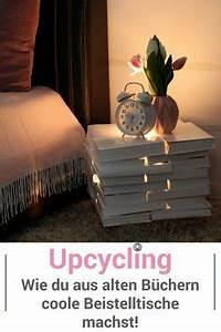 Tisch Aus Büchern : upcycling beistelltische aus alten b chern selber machen wohnen pinterest alte b cher ~ Buech-reservation.com Haus und Dekorationen