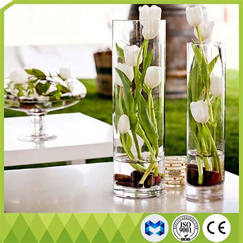 Cylinder Flower Vases by China Home Decoration Glass Vases Cylinder Shape