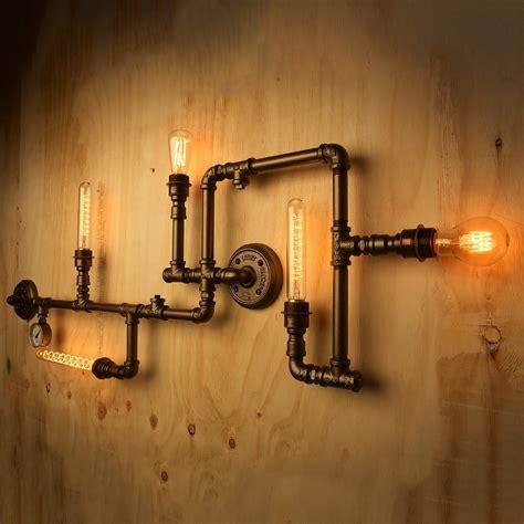 plumbing pipe light fixture design inspiration cool chic industrial style plumbing