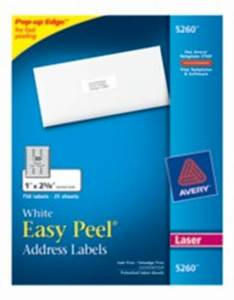 easy peel white address labels 5260 With avery address labels 5260