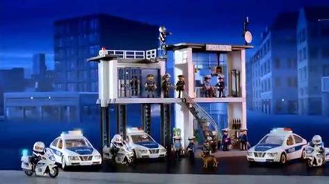playmobil commissariat de police avec systeme dalarme