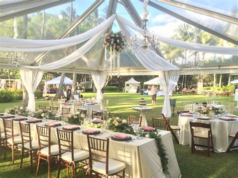 marquee draping ideas 30x30 clear top tent with some wheel style half swag and