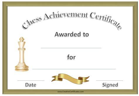 chess awards  certificates customize