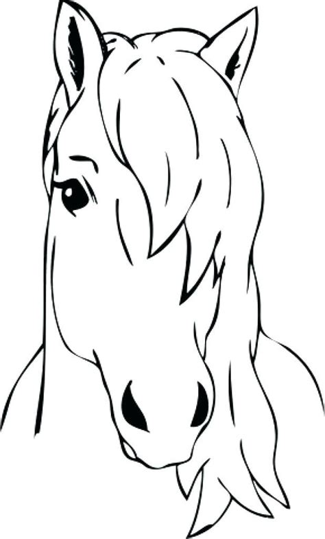 horse head coloring page head coloring page blank face