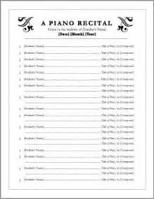 piano recital program free editable recital program templates class resources program