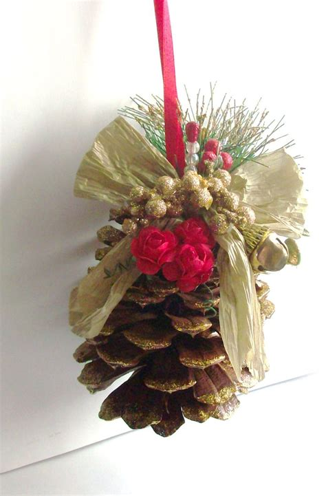 pine cone christmas ornaments crafts pine cone ornament scrapbook com craft pinterest