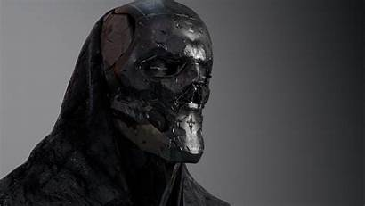 Skull Face Sci Fi Concept Substance Character