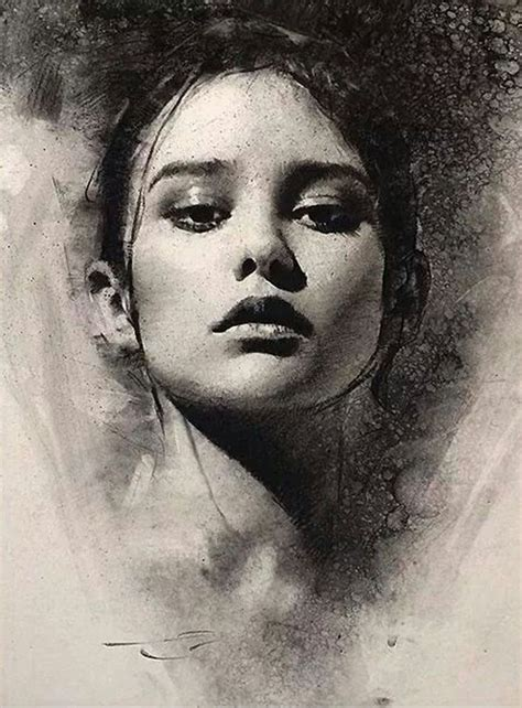 attractive charcoal drawing   fun