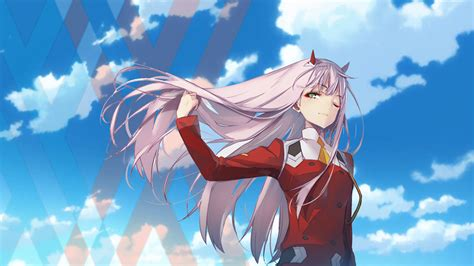 Anime Wallpaper For Two Phone - anime in the franxx zero two in the