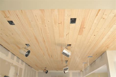 Beadboard Planks Tongue And Groove :  How To Install A Wood Planked Ceiling