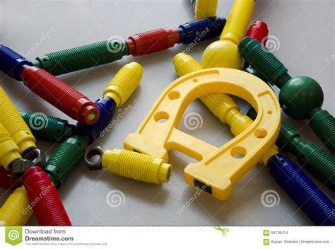 colorful magnetic toys stock photo image