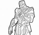 Gauntlet Infinity Coloring sketch template