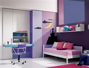 Cool purple and pink teenage girls bedrooms with modern for Girl teenagers modern bedroom furniture