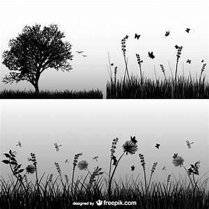 Wiese Silhouette Vektoren Fotos Und PSD Dateien