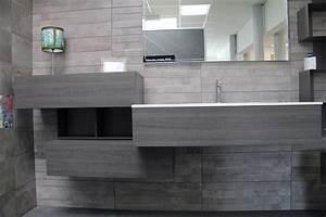 meuble de salle de bain vasque integree resine carrelage With resine pour carrelage salle de bain